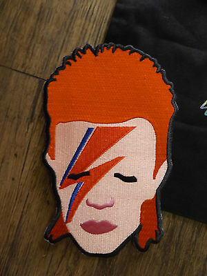 new large embroidered iron on david bowie back patch-ziggy stardust-aladdin sane