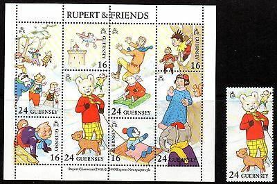 GUERNSEY SG605 MS606 1993 RUPERT Stamp & Miniature Sheet Unmounted Mint
