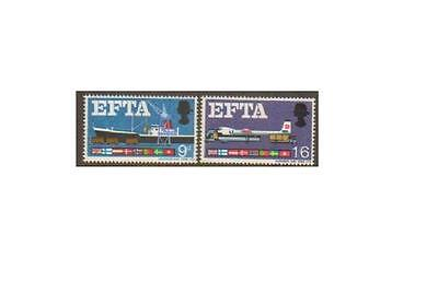 SG715p-716p 1967 EFTA PHOSPHOR Unmounted Mint