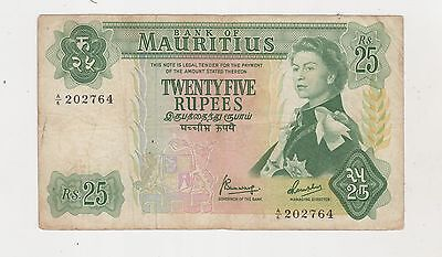 Mauritius 1967 (Nd) 25 Rupee Banknote A/6 202764