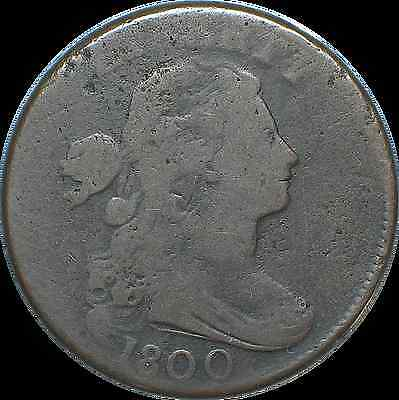 1800 Draped Bust Large Cent  *Wide Date*  S-204 R4 ( #-1048 PNH)