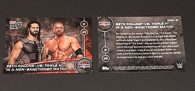 Seth Rollins vs. Triple H WWE Topps Now 2017 Wrestlemania 33 74 Produced