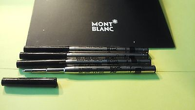 AUTHENTIC 5 LOT/SET MONTBLANC BALLPOINT (F) FINE Black INK REFILLS NEW