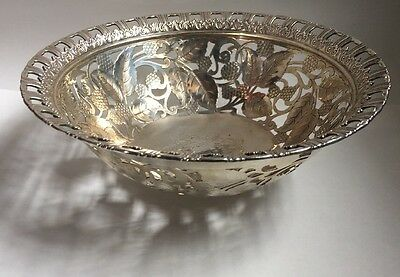Antique Tiffany & Co Sterling Reticulated Raspberry Bowl #16394