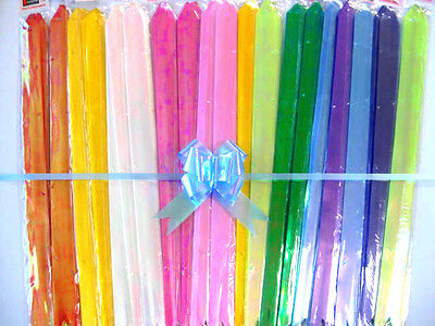 50 pcs x large size Ribbon Pull Bows 320x510 mm / Assorted color and patterns