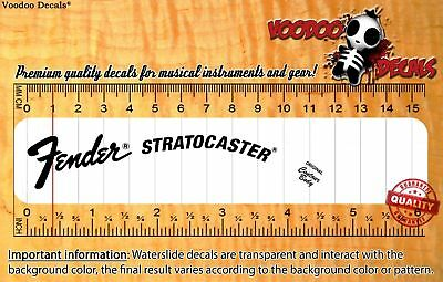 Fender Stratocaster 70´s ALL BLACK Headstock Waterslide Decals