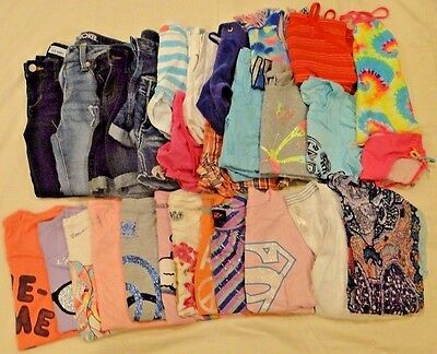 Lot of 29 Girls Summer Clothes Size 10 Youth EUC Juicy Couture, Justice, Mudd