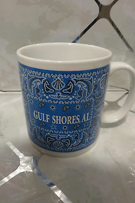 "Gulf Shores, Alabama 3.5"" Coffee Mug Beach/Dolphins/Sea Horses/Starfish/Shells"
