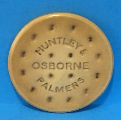 Vintage c1920 Celluloid Advertising Pocket Mirror for HUNTLEY & PALMERS BISCUITS