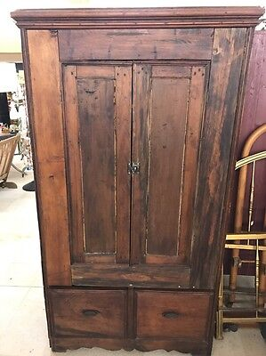 AAFA Primitive Antique Wardrobe Armoire Cabinet 1800's