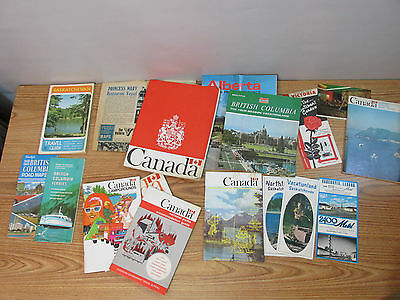 Lot of Vintage Canada Maps Pamplets Misc Canada Related 17 Total Items