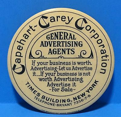 Vintage Celluloid Advertising Pocket Mirror, Capehart-Carey Corporation c1920's