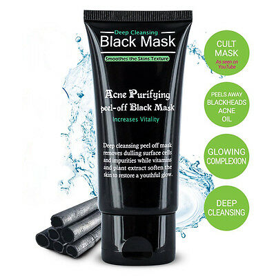 Purifying Black Peel Off Mask Facial Cleansing Blackhead Remover Charcoal Acne
