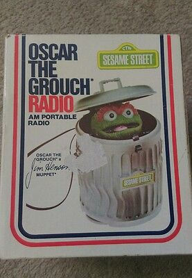 1976 Jim Henson Muppets Sesame Street Oscar the Grouch Radio - New In Open Box
