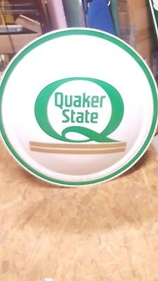 Quaker State Convex Button Advertising Sign