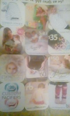 baby products and pregnant women gift card for 140