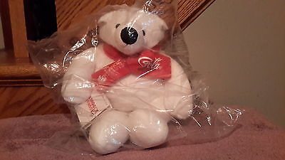 2015 MY COKE REWARDS Coca-Cola stuffed POLAR BEAR..coca cola/dunkin donut scarf