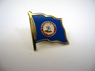 Vintage Collectible Pin: Virginia State Flag