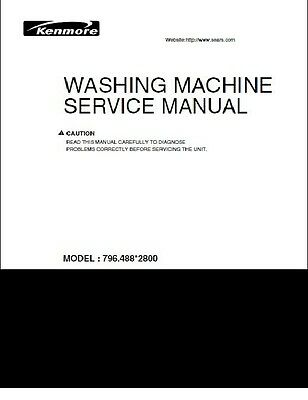 Repair Manual: Kenmore Washers & Dryers  (choice of 1 manual, see description)