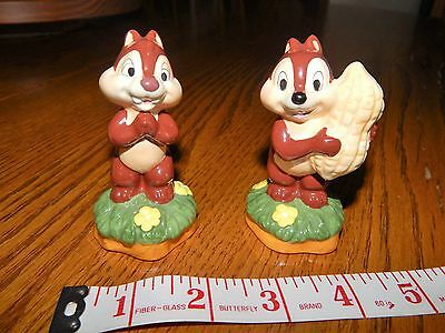 "Disney Chip And Dale Salt And Pepper Shakers 3"" Tall Excellent!"