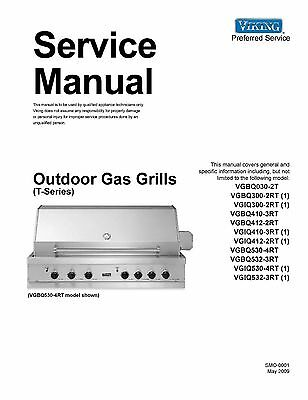 Repair Manual:Viking Ovens & Cooktops (choice of 1 manual,Models in Description)