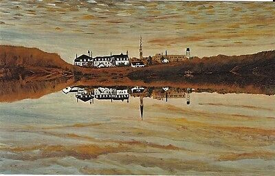 """Vintage collectible 3.5"""" x 5.5"""" POSTCARD Reflection Alfred Belliveau painting NB"""