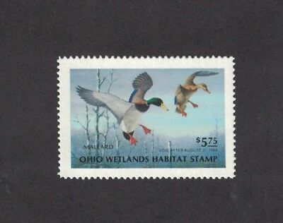 OH2 - Ohio State Duck Stamp.  Single. MNH. OG.