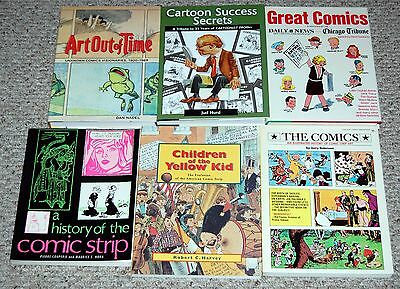 History Of Comic Strip Funnies Art 6pc Book Lot Hardcover Softcover