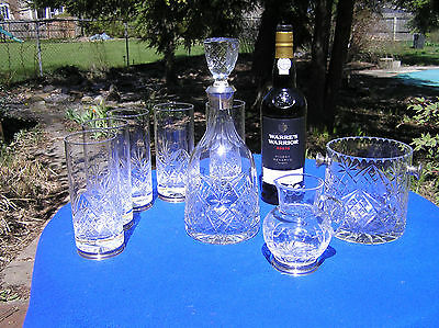 Spanish 915 silver and cut crystal glass wine/drinking set Spain