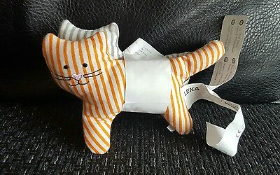 IKEA LEKA Rattle Toy (x2)..Cat Soft Toy (from 0 month newborn baby) NEW