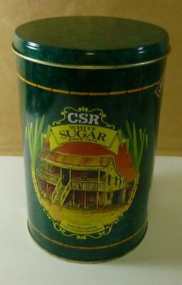 CSR 'White SUGAR', green, 2kg Sugar Canister, c.1990's