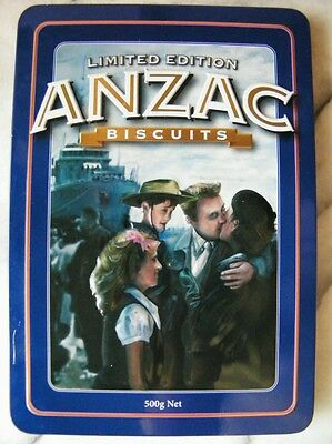 Unibic ANZAC Biscuits 'The Return', Australian edition, 500g. Biscuit Tin, c.200