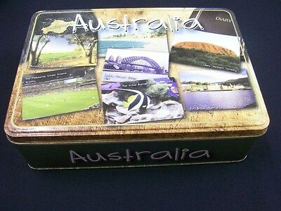 Unibic 'Australia', 'Postcards from Australia', 500g. ANZAC Biscuit Tin, c.2007