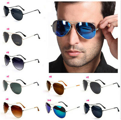 Unisex Women's Men Vintage Retro Fashion Aviator Mirror Lens Sunglasses Glasses-