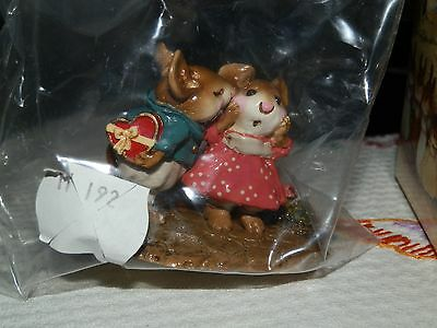 Wee Forest Folk -MOUSE FIGURINE-First Kiss