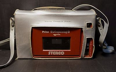 Prinz Swingalong 2 Vintage Personal Cassette Player   in case 1980's