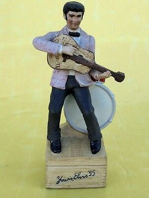 "EARLY McCORMICK'S ELVIS PRESLEY MUSICAL DECANTER PLAYS ""LOV1NG YOU"" 1980"