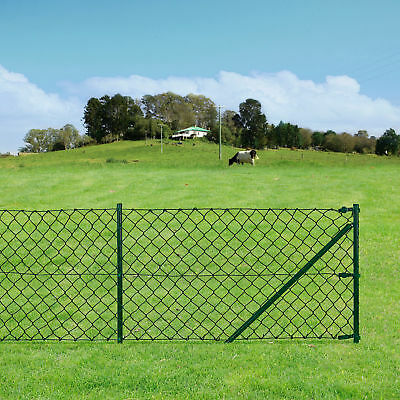[pro.tec]® Chain Link Fence Set Wire Mesh 0.8x15m Garden Fencing Fence Fence Set