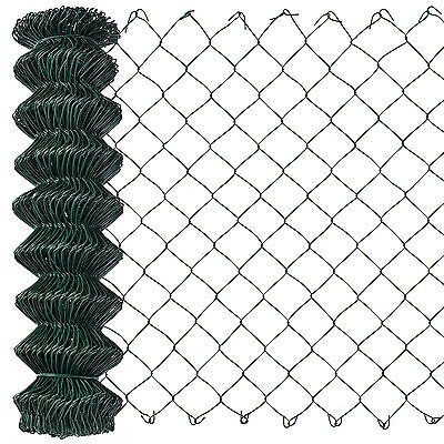 [pro.tec] Chain Link Fence 125cm x 25m Wire Fence Wire Mesh Garden Fencing Game