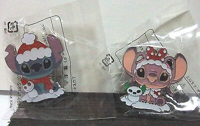 Disney Stitch Angel Christmas Snow Pin Japan Tokyo Disney Resort Le