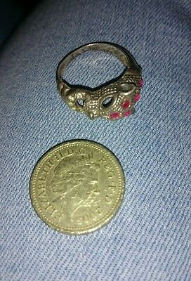 Silver ring, leopard