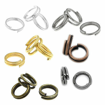 Nickel Plated Round Split Rings Double Ring Keyring Finding 4/5/6/8/10/12/14mm