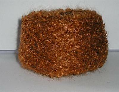 Mohair Small Loop Yarn Puppet  Ragdoll Waldorf Doll Hair  -  Gingernut 25Grams