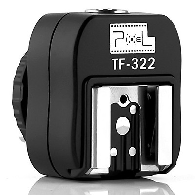 Pixel TF-322 e-TTL Flash Hot Shoe Adapter with Extra PC Sync Port for Canon