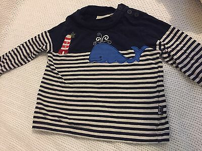 Jojo Maman Bebe Whale Top 6-12 Months Excellent Condition Baby Boy/girl