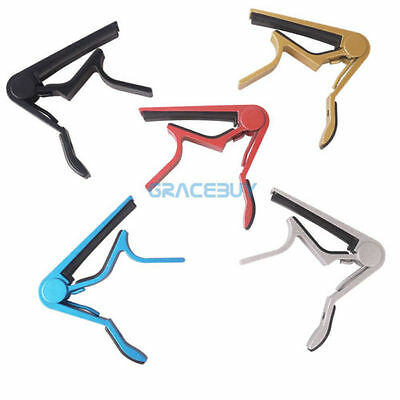 Alloy Quick Change Guitar Capos Spring Trigger Electric Acoustic Guitar Ukulele