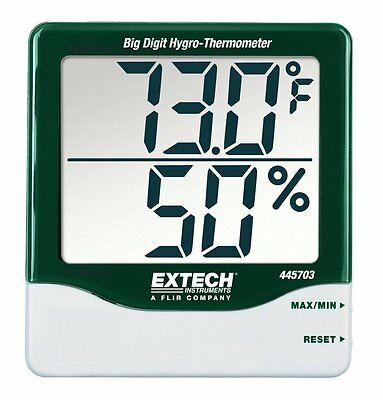 "Big Digit Hygro-Thermometer, with Min/Max, 1"" Digits on Super Large Dual Display"