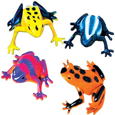 """Mini Frogs Vinyl Assorted Color Realistic Detail 2.5"""" L Pack of 12 Animal Insect"""