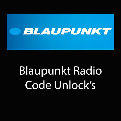 Blaupunkt Radio Code Stereo Decode Car Unlock Fast Service UK All Vehicles