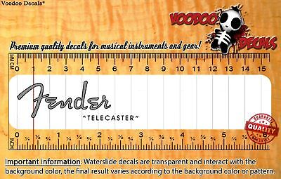 Fender Telecaster 1952 (Grey logo) Restoration Waterslide Decal